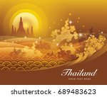 thailand water gold | Shutterstock .eps vector #689483623