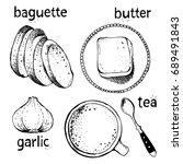 breakfasts and brunches vector... | Shutterstock .eps vector #689491843