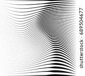 geometric black and white...   Shutterstock . vector #689504677