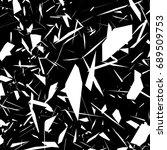 harsh rough texture. geometric...   Shutterstock . vector #689509753