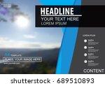 abstract vector modern cover...   Shutterstock .eps vector #689510893