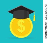 conception of education fee.... | Shutterstock .eps vector #689523073