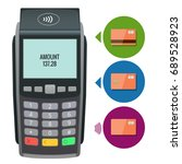 vector payment machine and... | Shutterstock .eps vector #689528923