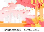 beautiful autumn leaves and... | Shutterstock .eps vector #689533213