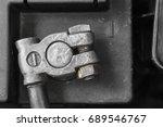 battery negative pole  | Shutterstock . vector #689546767