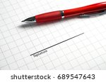 signing a business contract ... | Shutterstock . vector #689547643