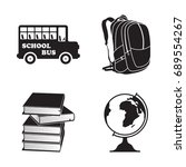 school isolated element icons... | Shutterstock .eps vector #689554267