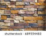 the stone wall texture...   Shutterstock . vector #689554483