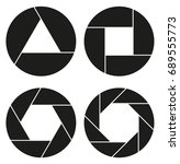 aperture  camera lens symbol | Shutterstock .eps vector #689555773