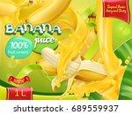 banana juice. sweet tropical... | Shutterstock .eps vector #689559937