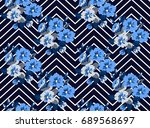 candy vintage feedsack pattern... | Shutterstock .eps vector #689568697