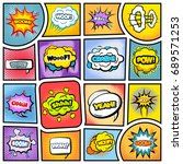 colorful comic book background | Shutterstock .eps vector #689571253