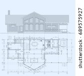 the author's architectural... | Shutterstock .eps vector #689575927
