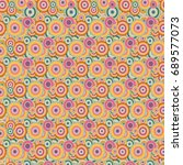 seamless texture with colored...   Shutterstock .eps vector #689577073