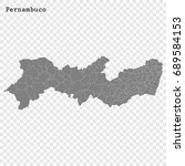 high quality map of pernambuco... | Shutterstock .eps vector #689584153