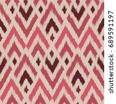 seamless ikat ogee pattern as...   Shutterstock .eps vector #689591197