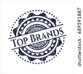 blue top brands distress rubber ... | Shutterstock .eps vector #689591887