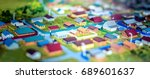 the layout of the many small... | Shutterstock . vector #689601637
