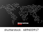 abstract world map of dots on... | Shutterstock .eps vector #689603917
