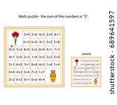 worksheet. the task    go... | Shutterstock .eps vector #689641597