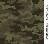 camouflage seamless pattern... | Shutterstock .eps vector #689642377