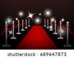 realistic vector red event... | Shutterstock .eps vector #689647873