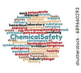 chemical safety management word ... | Shutterstock . vector #689660293