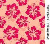 seamless repeat pattern with... | Shutterstock .eps vector #689663353
