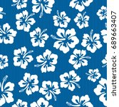 seamless repeat pattern with... | Shutterstock .eps vector #689663407