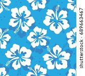 seamless repeat pattern with... | Shutterstock .eps vector #689663467