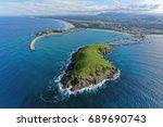 muttonbird island looking south ...   Shutterstock . vector #689690743