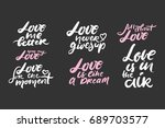 love is in the air. love me... | Shutterstock .eps vector #689703577