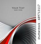 bright  background. wavy lines  ...   Shutterstock . vector #689713117