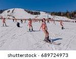 sheregesh  kemerovo region ...   Shutterstock . vector #689724973