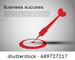 abstract business concept  ... | Shutterstock .eps vector #689727217
