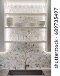 sink surround  | Shutterstock . vector #689735497