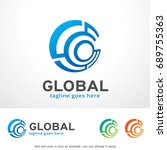 global logo template design... | Shutterstock .eps vector #689755363