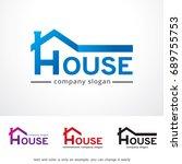 house logo template design...   Shutterstock .eps vector #689755753