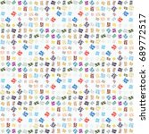 abstract color seamless pattern ... | Shutterstock .eps vector #689772517