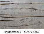 close up old wood sheet walkway | Shutterstock . vector #689774263