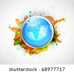 vector abstract earth colorful... | Shutterstock .eps vector #68977717
