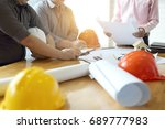 business objects of team... | Shutterstock . vector #689777983