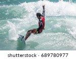 july 29  unidentified surfer in ...   Shutterstock . vector #689780977