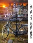 amsterdam central historical... | Shutterstock . vector #689787787