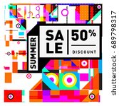 summer sale colorful style... | Shutterstock .eps vector #689798317