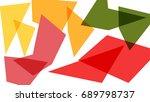 colorful geometric shape... | Shutterstock .eps vector #689798737