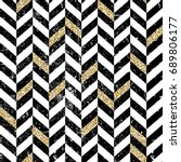 gold and black chevron pattern. ...   Shutterstock . vector #689806177