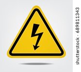 Warning High Voltage  Sign On...