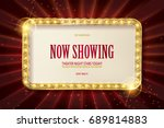 bright red marquee with light... | Shutterstock .eps vector #689814883