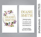floral style business card... | Shutterstock .eps vector #689817523